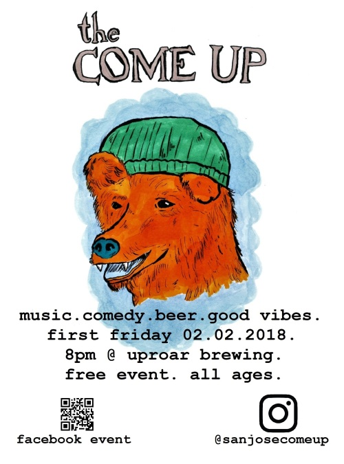 bear come up poster